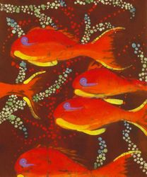 Orange Coral Reef Fish