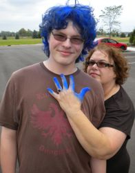 Jake and Mom, August 9, 2009
