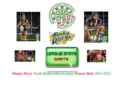 Hunky Dorys North Belfast Dart League 2011-2012 Stats