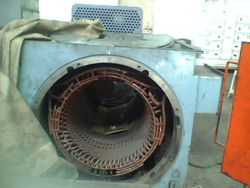 Side view of the dismantled motor