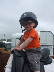 Our youngest rider at 2 years old