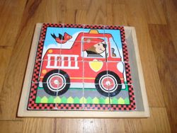 Melissa & Doug Transportation Wooden Cube Puzzle - 6 in 1 - $8