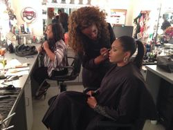 Demetria McKinney Preparing For Her Interview On 'News One Now' With Roland Martin on November 15, 2013