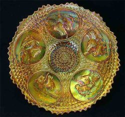 "Horse Medallion 7"" plate - marigold"