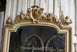 #25/255 FRENCH MIRROR LOUIS XVI DETAIL