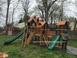 gorilla empire extreme playset installation in Virginia