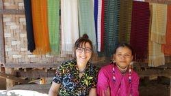 Johanna with tribal woman