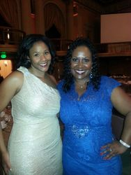 Jamescia with Langston bar Association Vice President Kimberly Willis