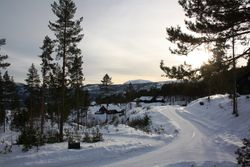 Uitzicht rechts van bungalow