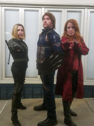 Black Widow, Infinity Wars Captain America, and Scarlet Witch
