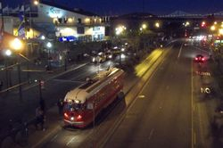 PCC #1061 at Pier 39 By Night.
