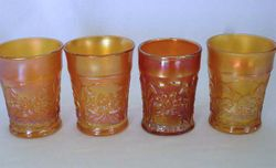 Waterlily & Cattail tumblers - marigold