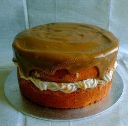 Toffee & Butterscotch swirl Gluten Free cake