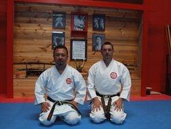 Shoji Shihan with Mike Williams Sensei