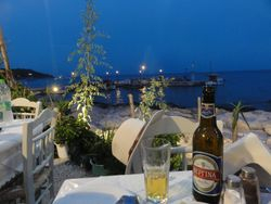 lovely dinner right on the marina, on a warm and balmy night