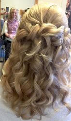 Stunning half up down curls using Flip in Hair Extensions