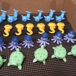 Gumpaste Baby Sea Creatures