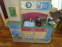 Little Tikes Deluxe Wooden Kitchen & Laundry Center - $100