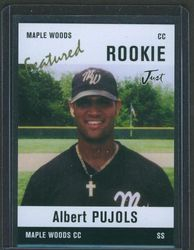 ALBERT PUJOLS AUTOGRAPHED MAPLE WOODS COMMUNITY COLLEGE BASEBALL CARD GEM MINT PSA 10