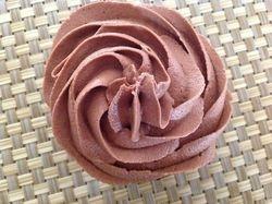 Chocolate cupcakes with creamy hazelnut frosting