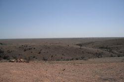 Overlooking Mundi Mundi Plains from Lookout.