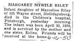 Riley, Margaret Myrtle 1950