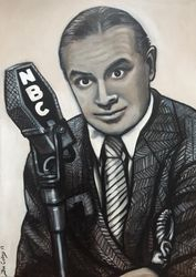 """Bob Hope"", ""Film Icons"", ""film Icon"", ""Icons"", ""Best comic"", ""Best actor"",acrylic on canvas, by Fin Collins, part of The Film Icons Collection www.filmiconsgallery.com,"