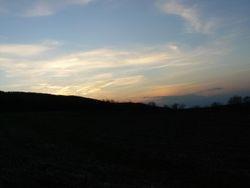 Farm at Sunset