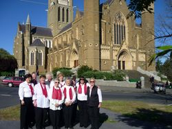 Choir in front of the Cathedral