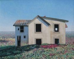 """Mountain House III, oil on linen, 25 x 31 1/2"""""""
