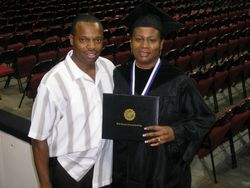 Mr. & Mrs. Darden at graduation