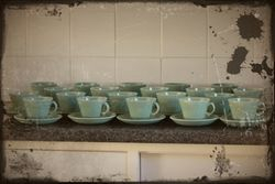 Tea cups ready for the break