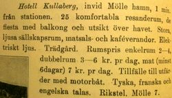 Hotell Kullaberg 1920