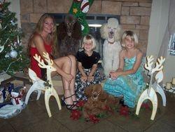 My Daughter Gentry, Grandchildren & Their Dogs -  2008