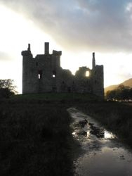 Kilchurn Castle at Sunset
