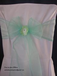 Pastel green with flower