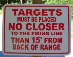 Pistol Range #1, 2 & 3 Target Placement