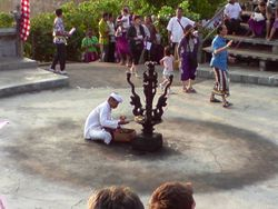 Preparation for Kecak Dance