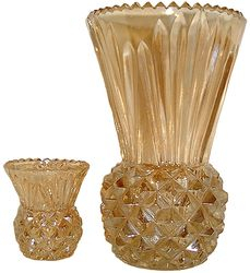 Thistle vase with its matching posy vase
