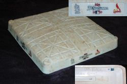 """Albert Pujols Signed """"Tied MLB First Base Assists Record""""  October 3, 2009 Actual Game Used Base Pujols Foundation COA"""