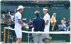 Coin toss at the net