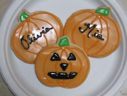 Pumpkin/ Jack-o-Lantern Cookies