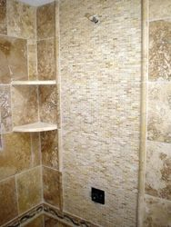 Marble shower with Design