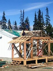 Tin shed addition Aug 2015