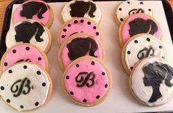 Barbie themed cookies