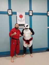 Sensei Santa and Senpai Panda!