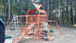 swing set installation completed in king georges va