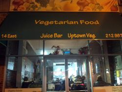 Booksigning event at Uptown Veggie in Harlem, NY