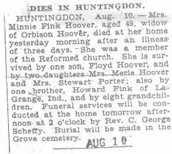 Hoover, Minnie Fink 1932