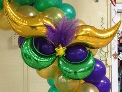 Mardi Gras Balloon Arch Mask